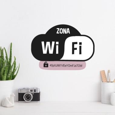 Zona Wifi amb contrasenya personalitzada - Vinils decoratius