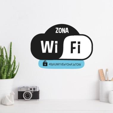 Zone wifi - Stickers décoratif Stickers phrase Dimensions approximatives (largeur x hauteur) 26x19 cm   vinilos infantiles y bebé Starstick
