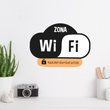 Zone wifi - Stickers décoratif Stickers phrase Dimensions approximatives (largeur x hauteur) 26x19 cm  vinilos infantiles y bebé Starstick