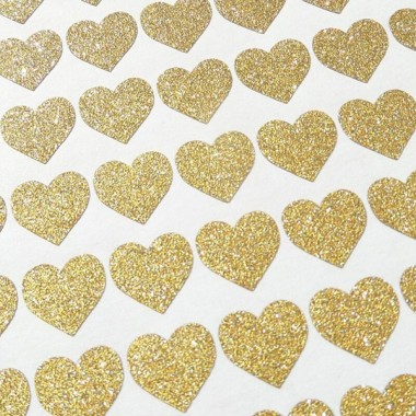 Cors de purpurina daurada - Vinils decoratius amb purpurina