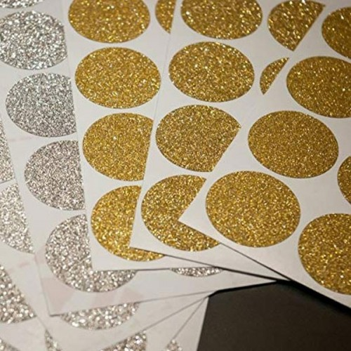 Confettis de paillettes d'or - Stickers décoratifs paillettes