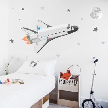 Transbordador espacial - Vinilos infantiles decorativos