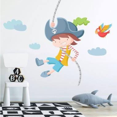 Stickers décoratif - Assaut de pirate. Garçon