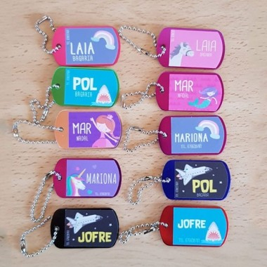 Porte-clés personnalisés - Différentes couleurs!