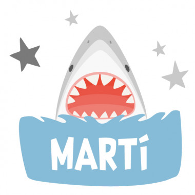 Super shark - Sticker pour enfants