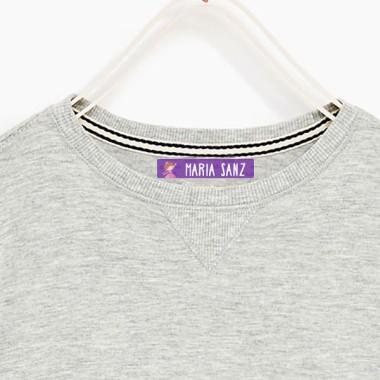 Etiquetes personalitzades per la roba. Rectangulars mitjanes - Model 10