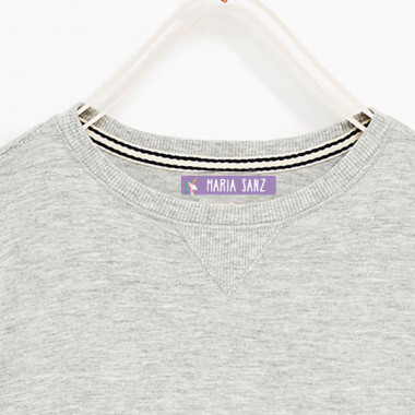 Etiquetas personalizadas para ropa. Rectangulares medianas - Modelo 11