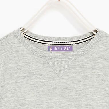 Étiquettes personnalisées pour les vêtements. Moyen Rectangulaire - Modèle 11