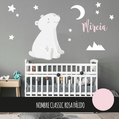 Vinilos para bebé – Oso polar - Luna blanca