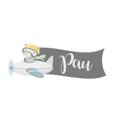 Osset aviador - Vinil personalitzable amb el nom Vinils per portes amb nom Vinils decoratius personalitzables amb un o dos noms. Divertit osset aviador amb dos colors a escollir: groc o mandarina. Adhesius infantils per decorar portes, parets o mobles.  Mida de la làmina i del muntatge Làmina amb 1 nom: 27x10 cm Làmina amb 2 noms: 27x15 cm  vinilos infantiles y bebé Starstick