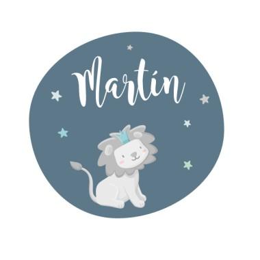 El petit rei lleó - Mint - Vinil personalitzable amb el nom
