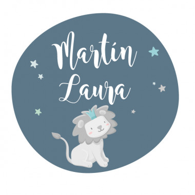 Le petit roi lion - Mint - Sticker nom de porte