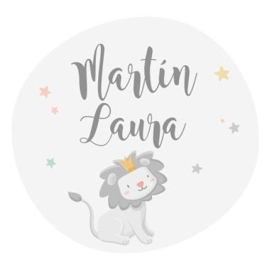 Le petit roi lion - Couleurs - Sticker nom de porte