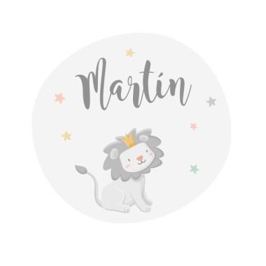 El pequeño rey león - Colores - Vinilo personalizable con el nombre