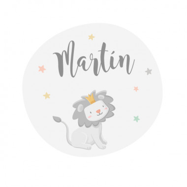 El petit rei lleó - Colors - Vinil personalitzable amb el nom