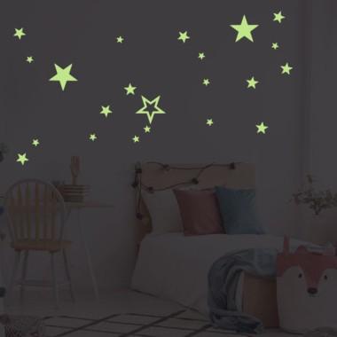 Fluorescent étoiles - Stickers enfant