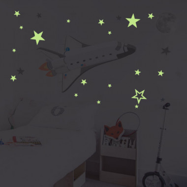 Estrelles fluorescents - Vinil decoratiu de paret