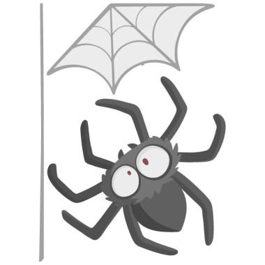 Araña peluda - Vinilos infantiles para niños y niñas Vinilos infantiles Niño Vinilo infantil súper divertido y original con una araña colgante. Apto únicamente para los más atrevidos y valientes. El pack incluye la telaraña y la araña.  Medidas aproximadas del vinilo montado (ancho x alto) Básico:31x60 cm Pequeño: 45x90cm  Mediano:52x130 cm  Grande:83x160 cm  AÑADE UN NOMBRE AL VINILO DESDE 9,99€  vinilos infantiles y bebé Starstick