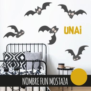 Terroríficos murciélagos - Vinilos infantiles para niños y niñas