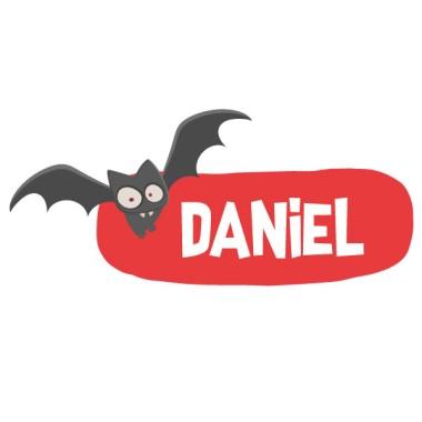 Terroríficos murciélagos - Vinilo con nombre para puertas