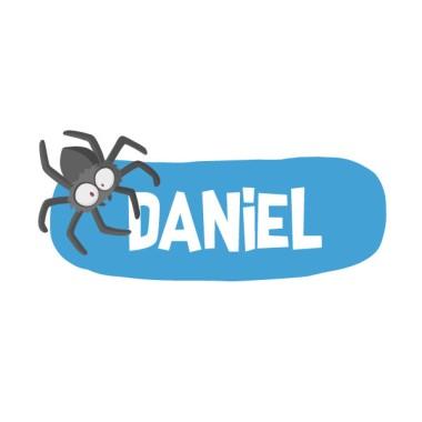 Araña peluda - Vinilo con nombre para puertas