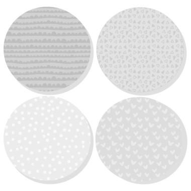 Extra Pack - Estrelles gris Extra Packs Extrapack amb 17 estrelles Mida de les estrelles: Entre 3 i 8 cm d'ample cadascuna Mida de la làmina: 30x15 cm vinilos infantiles y bebé Starstick