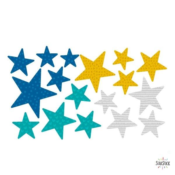 Extra Pack - Estrellas Mostaza Extra Packs Extrapack con 17 estrellas Tamaño de las estrellas: Entre3 y 8 cm de ancho cada una Tamaño de la lámina: 30x15 cm  vinilos infantiles y bebé Starstick