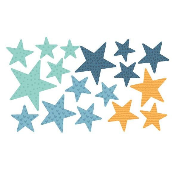 Pack supplémentaire - Étoiles bleu Packs supplémentaires Extrapack avec 17 étoiles Taille des étoiles: entre 3 et 8 cm de large chacune Taille de la lame: 30x15 cm  vinilos infantiles y bebé Starstick