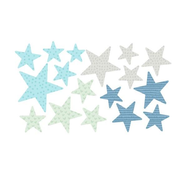 Extra Pack - Estrellas Mint Extra Packs Extrapack con 17 estrellas Tamaño de las estrellas: Entre3 y 8 cm de ancho cada una Tamaño de la lámina: 30x15 cm  vinilos infantiles y bebé Starstick