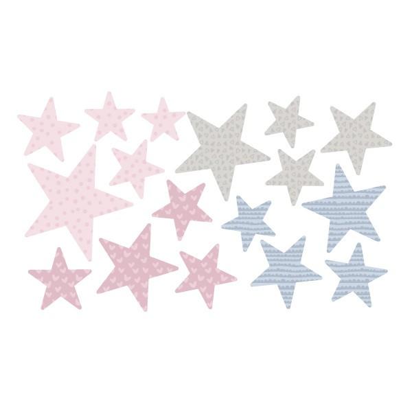Extra Pack - Estrellas rosa palo Extra Packs Extrapack con 17 estrellas Tamaño de las estrellas: Entre3 y 8 cm de ancho cada una Tamaño de la lámina: 30x15 cm  vinilos infantiles y bebé Starstick
