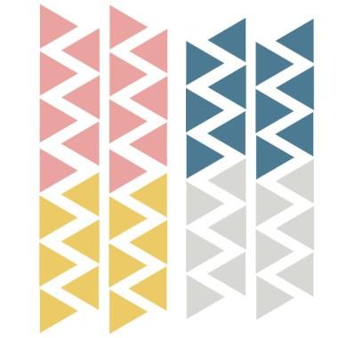 Triángulos nórdicos combinación vintage - Vinilos bebé