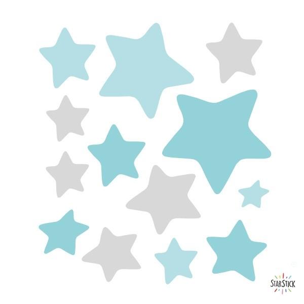 Extra Pack - Estelles elefant a la lluna Extra Packs Extrapack de 13 estrelles d'entre 4 i 8 cm d'ample. Mida de la làmina: 25x25 cm vinilos infantiles y bebé Starstick