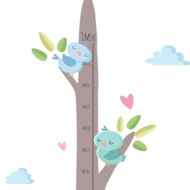 Medidor Familia de pajaritos - Vinilos infantiles Medidores Vinilo medidor con una familia de pajaritos en la rama del árbol. Vinilos infantiles con diseños exclusivos de StarStick.Medidasdel vinilo (ancho x alto) Tamaño del montaje: 50x135 cm Tamaño de la lámina: 20x60 cm Tamaño aproximado de lospájaros: Entre 9 y 10 cm ¡Incluye 16 etiquetas para marcar lo que quieras!  vinilos infantiles y bebé Starstick
