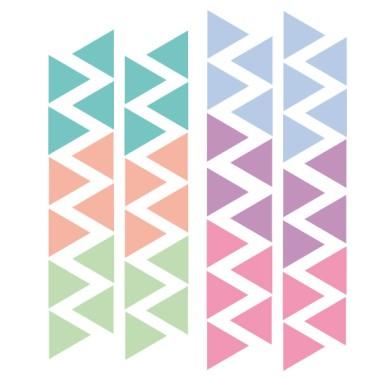 Triángulos nórdicos combinación candy - Vinilos bebé