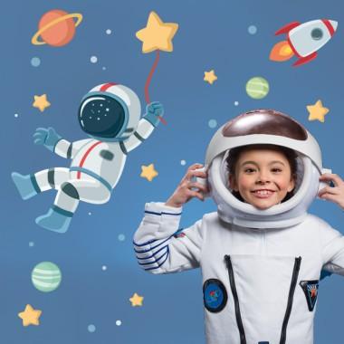 Sticker muraux enfants - Astronaute, mission spatiale