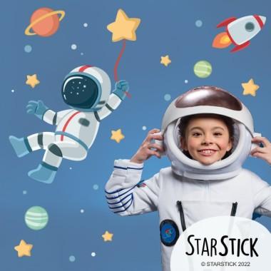 Vinilo muy original del espacio para niños, niñas y bebés.