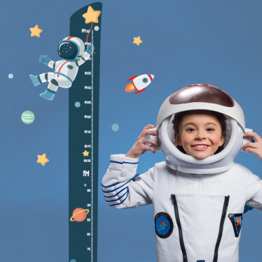 Vinilo infantil medidor - Astronauta, misión espacial