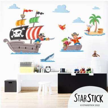 Piratas del tesoro - Vinilos infantiles para niños y niñas