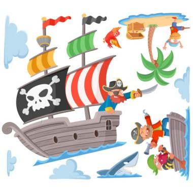 Piratas del tesoro - Vinilos infantiles para niños y niñas Vinilos infantiles Niño Nos vamos a buscar tesoros. Te animas? Vinilos infantiles de pared, muy originales y atrevidos. Aventúrate y decora la habitación de tus hijos con divertidos vinilos de piratas.  Medidas aproximadas del vinilo montado (ancho x alto) Básico: 70x40 cm Pequeño:95x55 cm Mediano:140x60 cm Grande:200x85 cm Gigante:265x110 cm  AÑADE UN NOMBRE AL VINILO DESDE 9,99€  vinilos infantiles y bebé Starstick