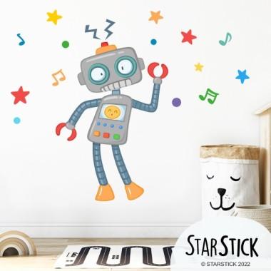 Robot - Sticker décoratif pour garçons et filles