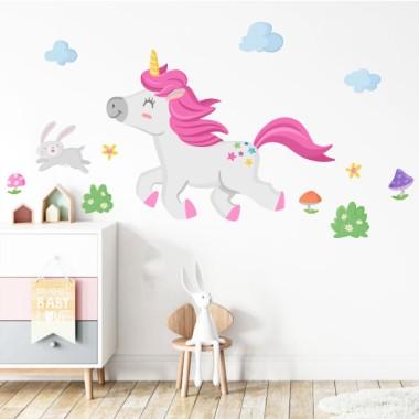 Stickers pour filles et garçons - Le tour de la licorne