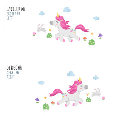 Vinilos para niñas y niños – El paseo del unicornio Vinilos infantiles Niña Pon color en las habitaciones infantiles con los divertidos vinilos de unicornio de StarStick. Existen distintos modelos, combinables entre ellos, con los que conseguirás una decoración estupenda. Todas las figuras son independientes, las puedes pegar con la composición que más se adapte a tu pared. Medidas aproximadas del vinilo montado (ancho x alto) Básico:70x40cm Pequeño:115x55 cm Mediano:145x65cm Grande:200x90 cm Gigante:260x125cm  AÑADE UN NOMBRE AL VINILO DESDE 9,99€  vinilos infantiles y bebé Starstick