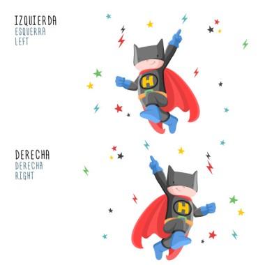 Superhero Batboy - Stickers décoratifs pour enfants Stickers Garçons Mesures approximatives du vinyle monté (largeur x hauteur) Básique:68x50 cm Petit:100x75 cm Moyen:150x90 cm Grand:200x130 cm Géant:250x200 cm  AJOUTE UN NOM POUR LE VINYLE À PARTIR DE 9,99€   vinilos infantiles y bebé Starstick
