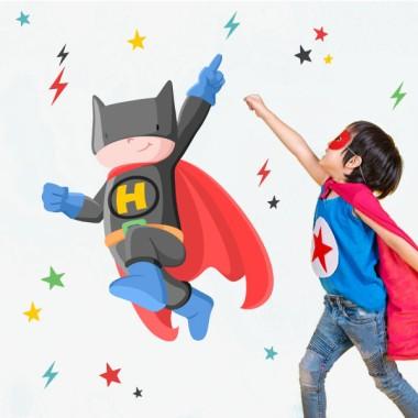 Superhéroe batboy – Vinilos decorativos niño