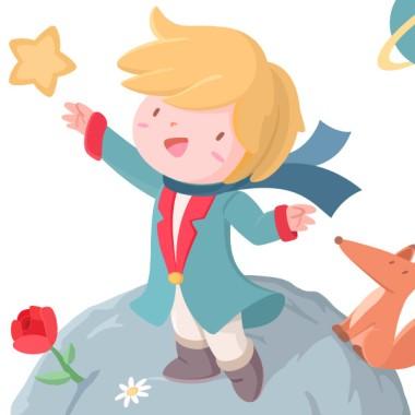 """Vinil infantil per a nadons - Petit príncep Vinils nadó Vinil infantil amb el Petit príncep i el seu planeta. Vinil decoratiu ideal per omplir de tendresa i felicitat les habitacions dels nens i nadons. """"Totes les persones grans van ser al principi nens... encara que poques d'elles ho recorden"""". Fes que el teu petit mai s'oblidi de la seva infància amb aquest bonic vinil infantil del petit príncep. Mides aproximades del vinil enganxat (ample x alt)  Bàsic:70x45cm Petit:100x85cm Mitjà:130x100 cm Gran:170x125 cm Gegant:250x170 cm  AFEGEIX UN NOM AL VINIL DES DE 9,99 €  vinilos infantiles y bebé Starstick"""