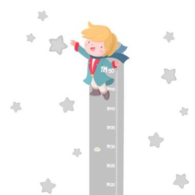 Medidor pequeño príncipe - Vinilo medidor Medidores Vinilos medidores de pared. Vinilos muy divertidos y de gran calidad para decorar paredes y muebles. Vinilo a juego con el vinilo mural de El pequeño príncipe.  Medidasdel vinilo Tamaño de la lámina: 20x135 cm Tamaño del montaje con las estrellas: 50x135 cm ¡Incluye 16 etiquetas para marcar lo que quieras! vinilos infantiles y bebé Starstick