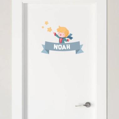 Petit prince - Sticker nom de porte Stickers porte chambre Taillede la feuille/montage 1 nom:29x20 cm 2 noms:30x28 cm  vinilos infantiles y bebé Starstick