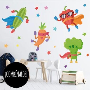 Super brocoli - Stickers muraux pour écoles