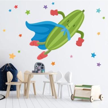 Súper calabacín - Vinilos de pared para colegios y escuelas
