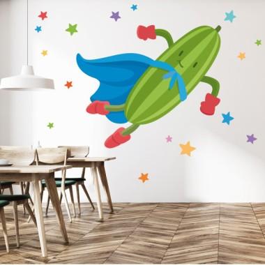 Súper carbassó - Vinils de paret per a col·legis i escoles Vinils educatius / escoles Converteix el teu menjador en un divertit espai gràcies als vinils decoratius de StarStick. Vinils de paret que us permetran redecorar les vostres aules de manera fàcil i ràpida. Fes la teva combinació de vinils i veuràs que aconsegueixes un menjador fantàstic. Mides aproximades del vinil enganxat (ample x alt) Bàsic:70x40cm Petit:100x70 cm Mitjà:120x90 cm Gran:200x120 cm Gegant:250x150 cm  vinilos infantiles y bebé Starstick
